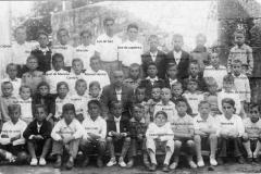 Día da árbore co Sr. Salvador (con nomes) nos anos 1934-35