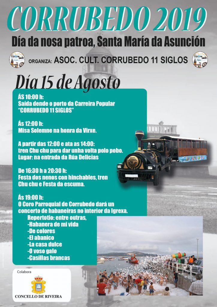 Día de la patrona de Corrubedo, Santa María de la Asunción